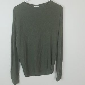 Lucky brand mens thermal shirt olive green M